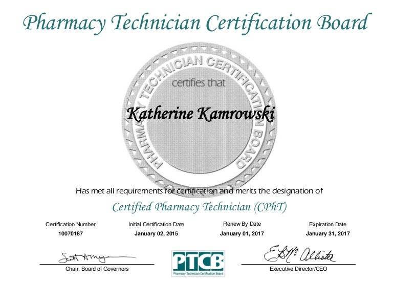 cpht certificate 2015-2017