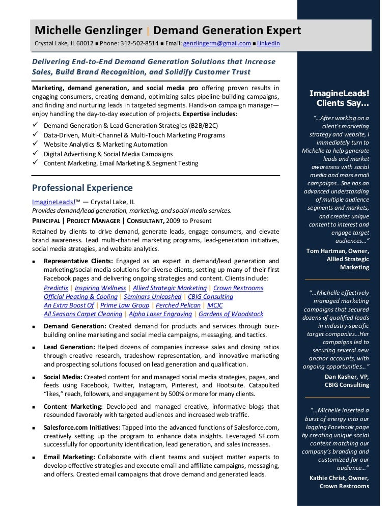 Demand Generation 2015 Resume