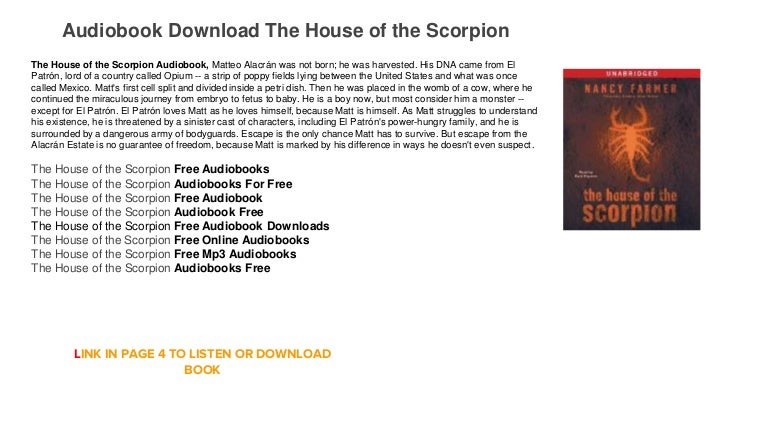 The house of the scorpion audiobook download free mp3 online streamin….
