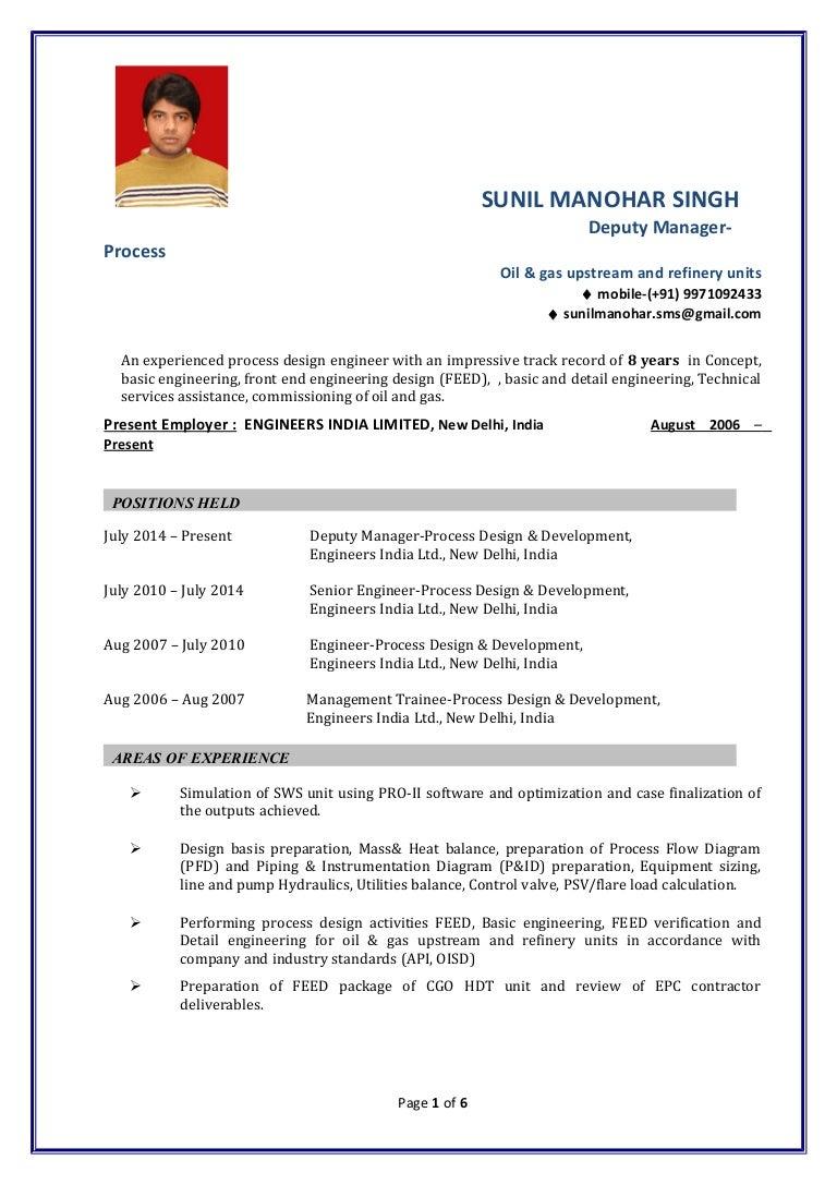 Sunil Manohar Singh Cv