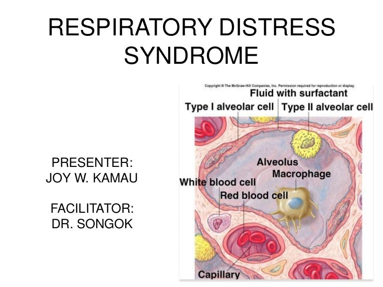 Respiratory physiology & respiratory distress syndrome in a newborn.