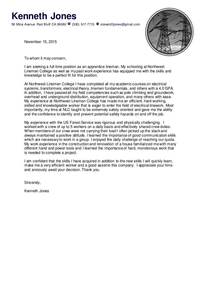 Apprenticeships Cover Letter