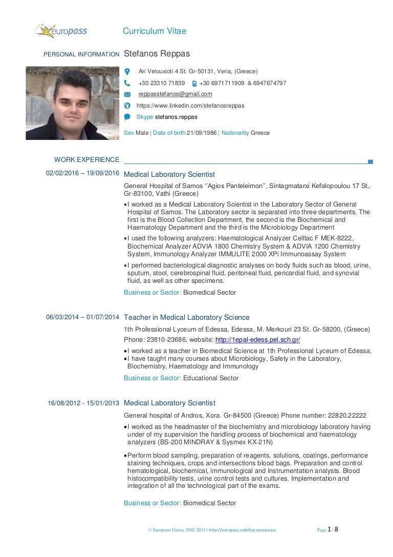 Reppas Stefanos Europass CV