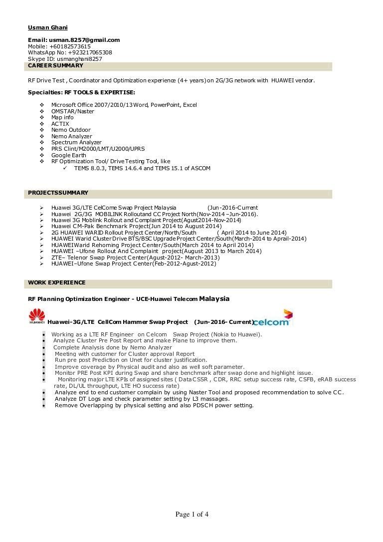 usman ghani resume lte 55bb6c75 e790 4057 8f03 c359dc2bfe06 170115110932 thumbnail 4 usman ghani resume lte lte tester sample resume - Drive Test Engineer Sample Resume