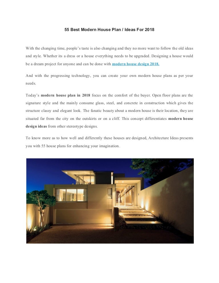 55 Best Modern House Plan Ideas For 2018