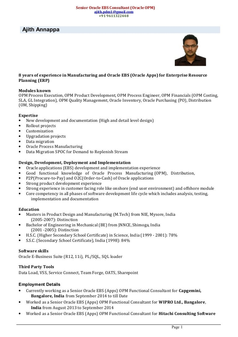Erp consultant cover letter