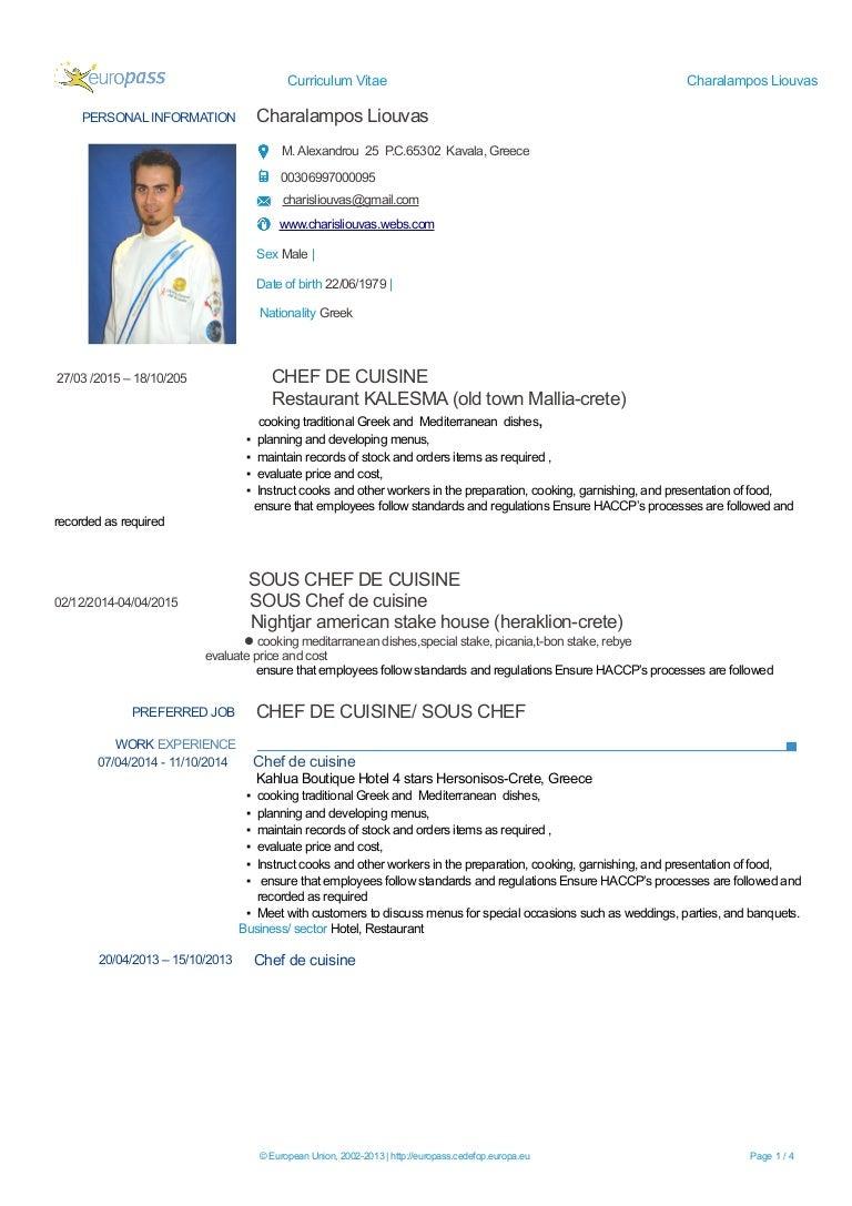 charalampos liouvas_cv new - Procedure Haccp Cuisine