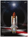 Mission Poster STS-135 Space Shuttle Atlantis