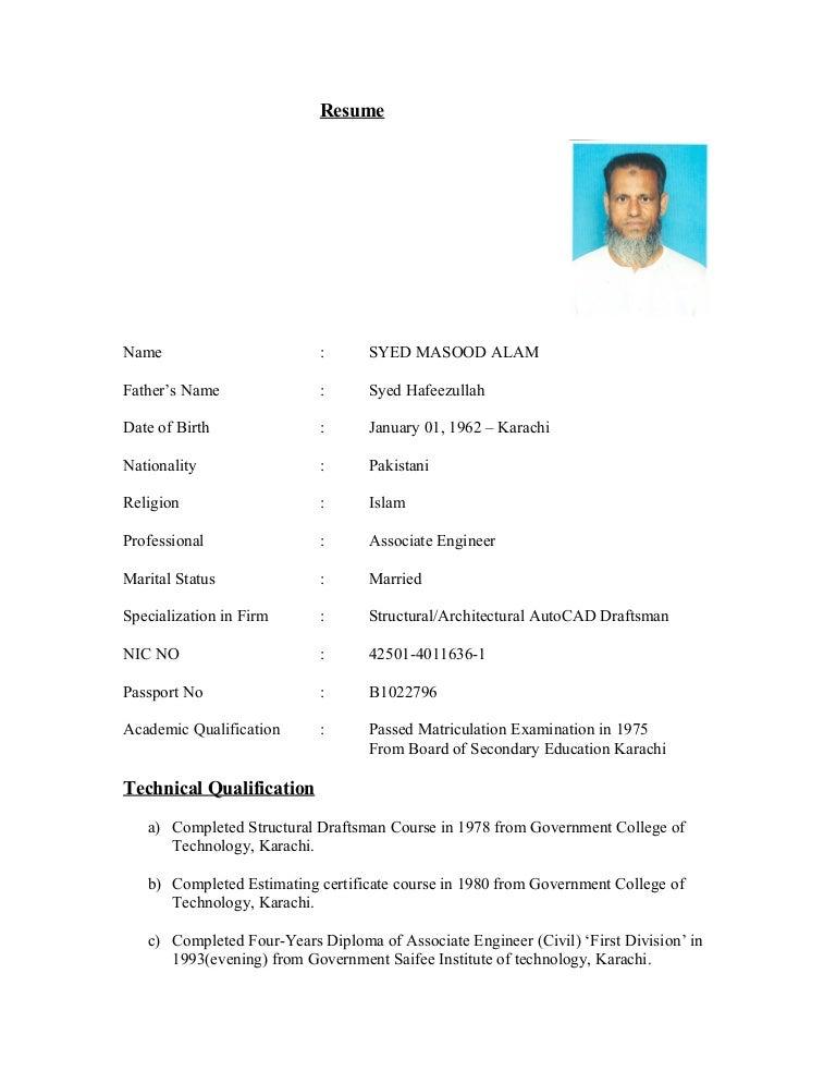copy of cv  masood alam