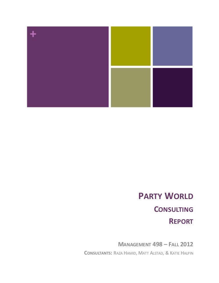 Party World Consulting Report