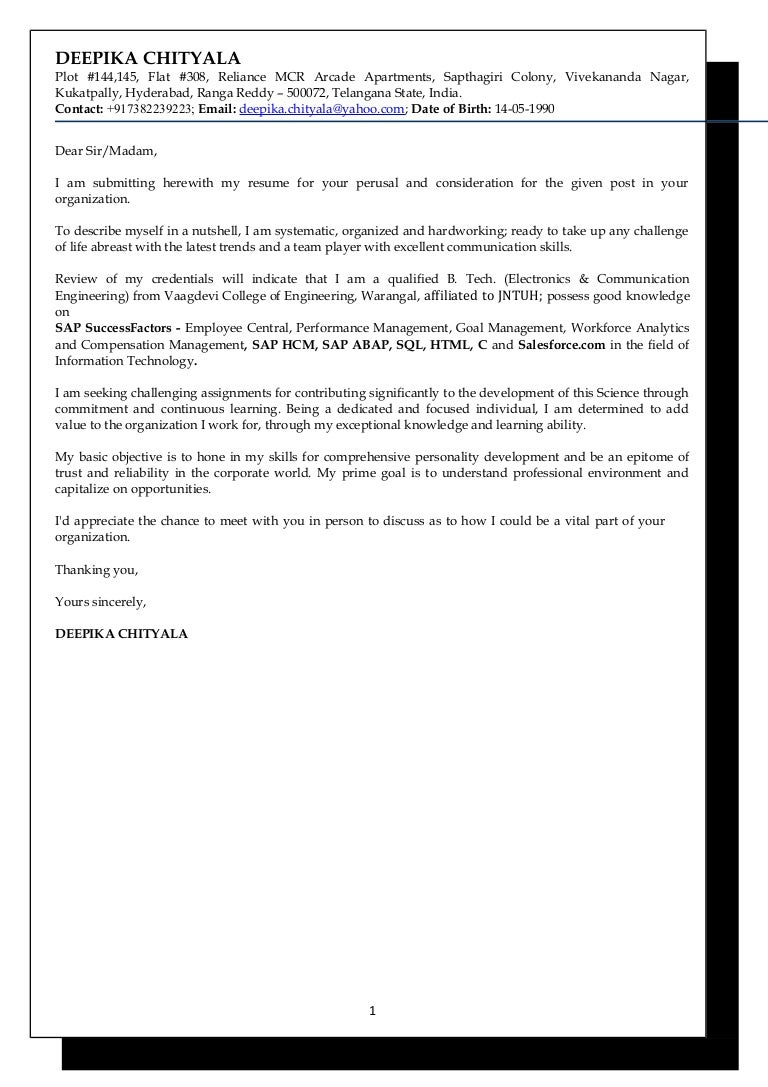 DEEPIKA CHITYALA - SAP SuccessFactors and SAP HCM