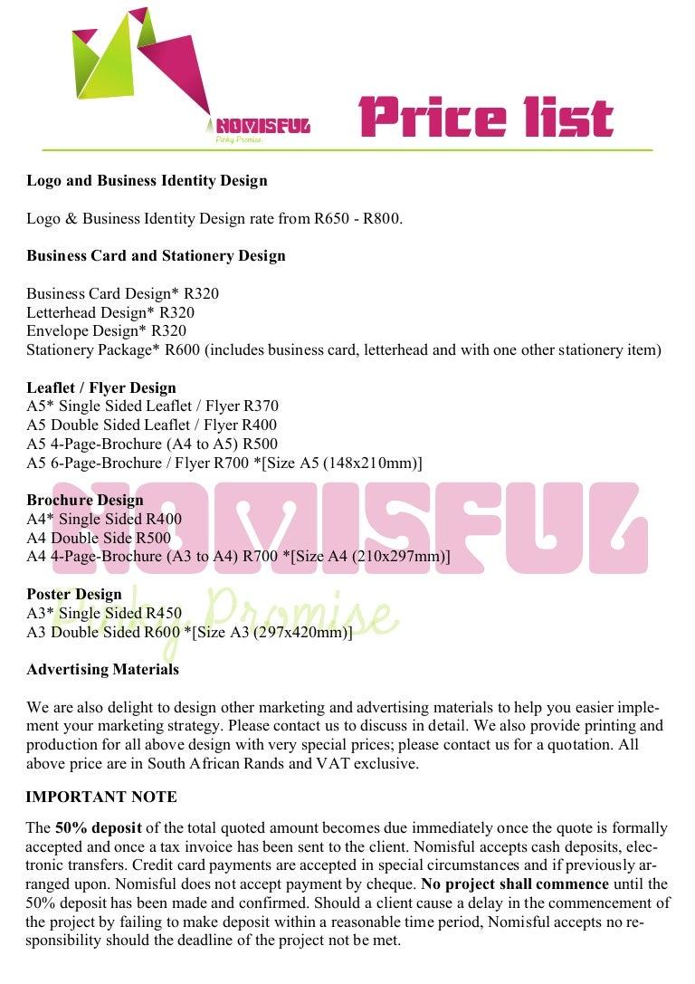 Nomisful price list colourmoves