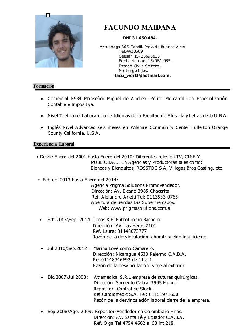 CURRICULUM VITAE 2015 FACUNDO MARTIN MAIDANA con REF (1)