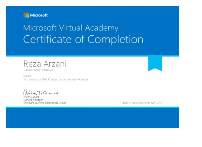 Windows Server 2012 R2 Access and Information Protection