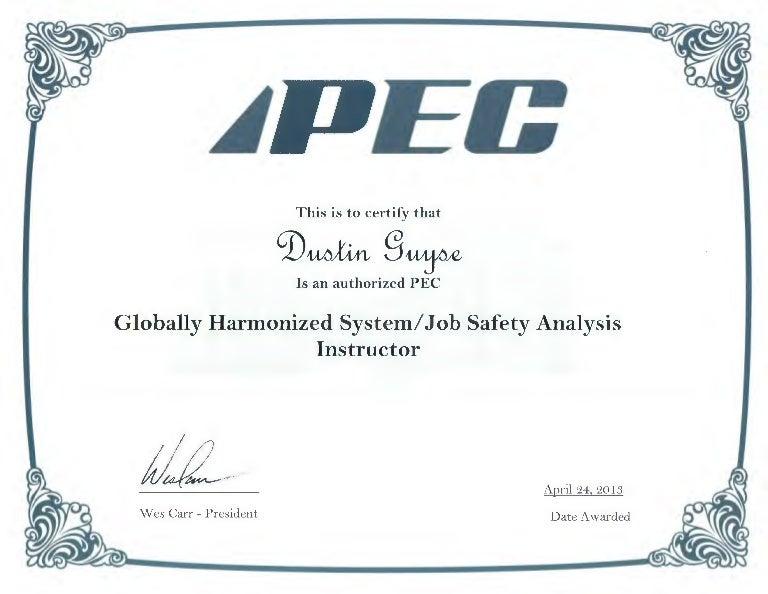 pec certificate jsa