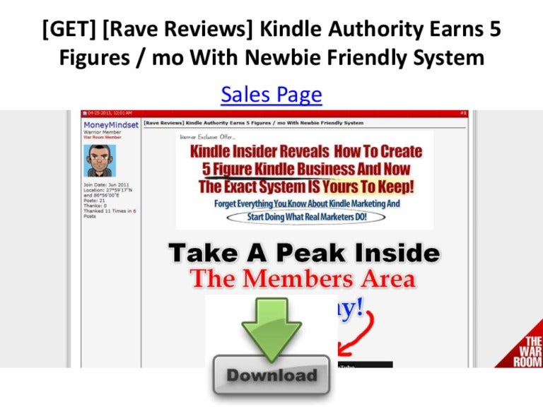 GET] [Rave Reviews] Kindle Authority Earns 5 Figures / mo