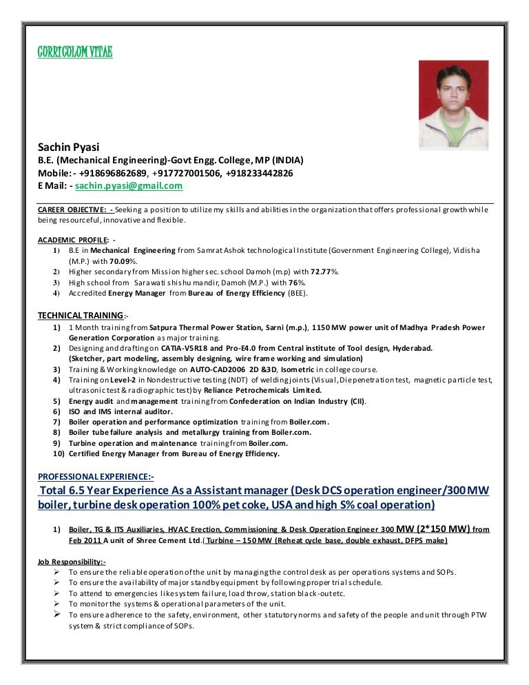 resume samples for power plant engineers resume ixiplay free