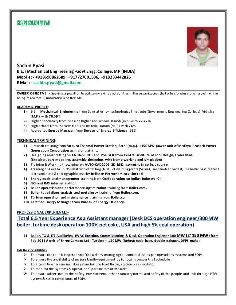 ... Resume Hari Oil Operator Resume2. Power Plant Desk Operation Engineer  Boiler Turbine Hvac