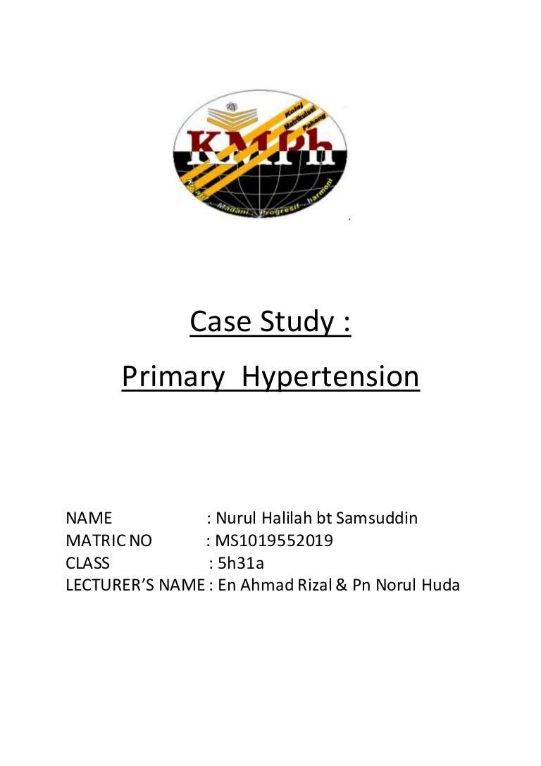 Case Study of Hypertension   Heart   Hypertension SlideShare Hypertension CASE STUDY    PathoPhysiology of Hypertension  Diagram