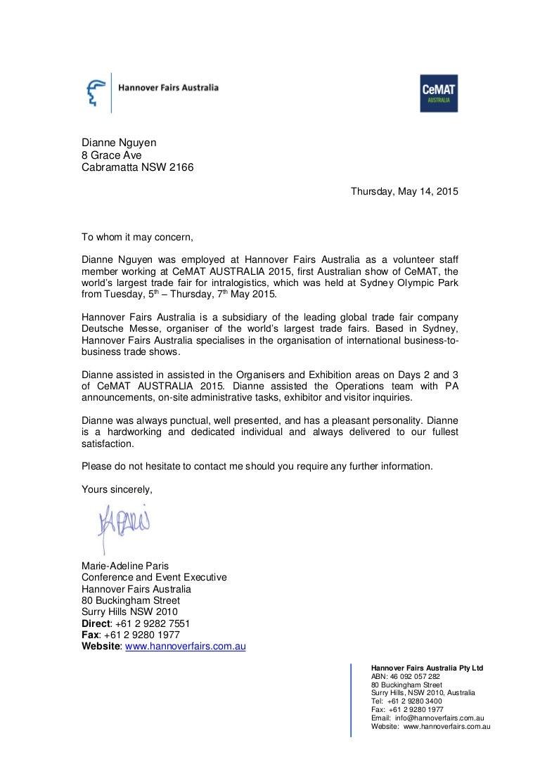 volunteer reference letter for dianne nguyen