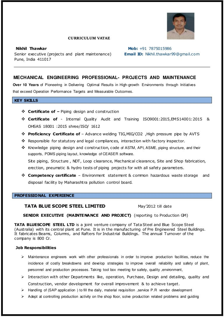 Project engineer C.V.