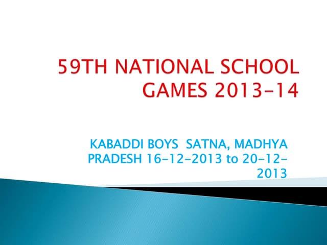 59th national school games kabadi