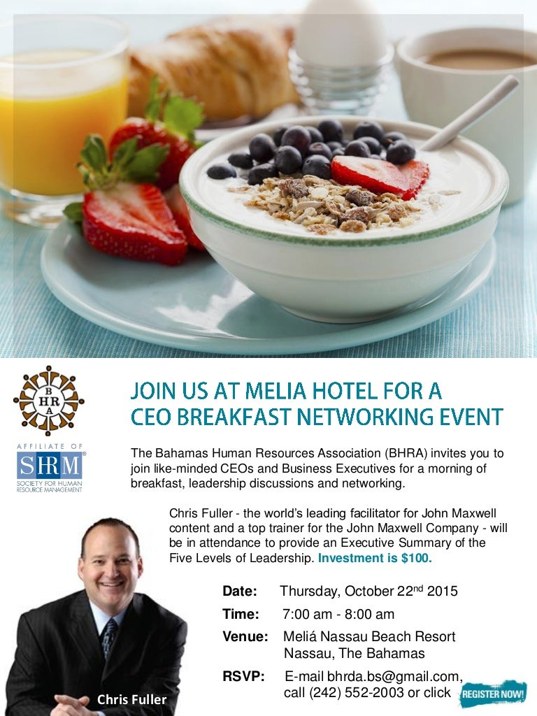 bhra october 2015 ceo breakfast networking event flyer