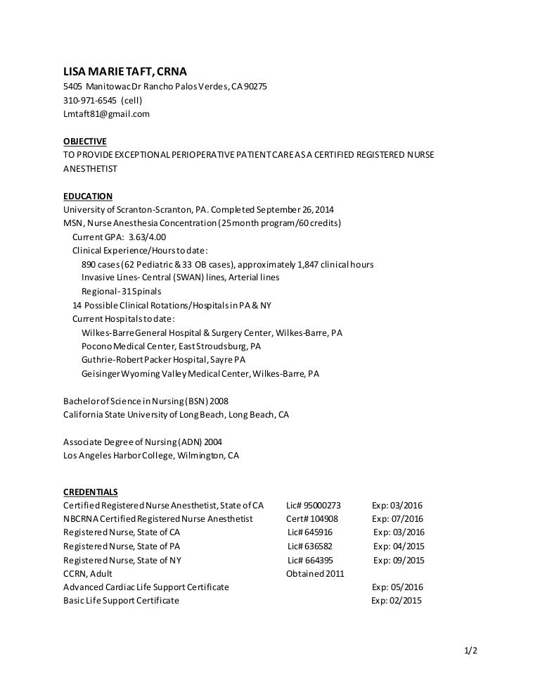 CRNA resume-march 15
