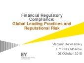 BEREZANSKY VLADIMIR  26 10 2015 Financial Regulatory Compliance