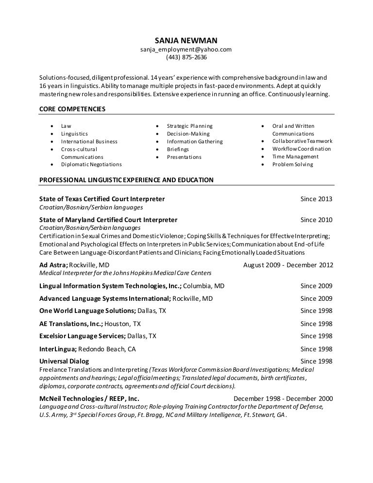 What To Write For Profile On A Resume