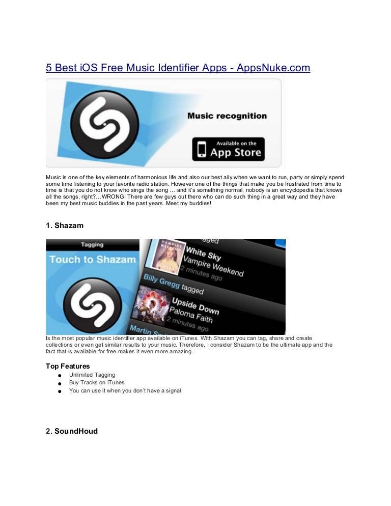 5 Best iOS Free Music Identifier Apps