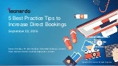 5 Best Practice Tips to Drive Direct Bookings