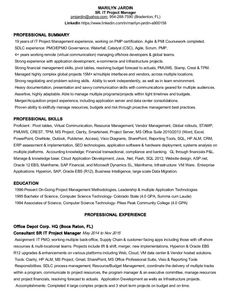 MJResume2016New – Mainframe Project Manager