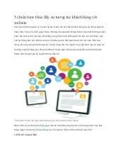 5 chiến lược thúc đẩy sự tương tác khách hàng với website