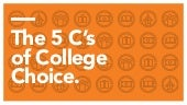 The 5 C's of College Choice