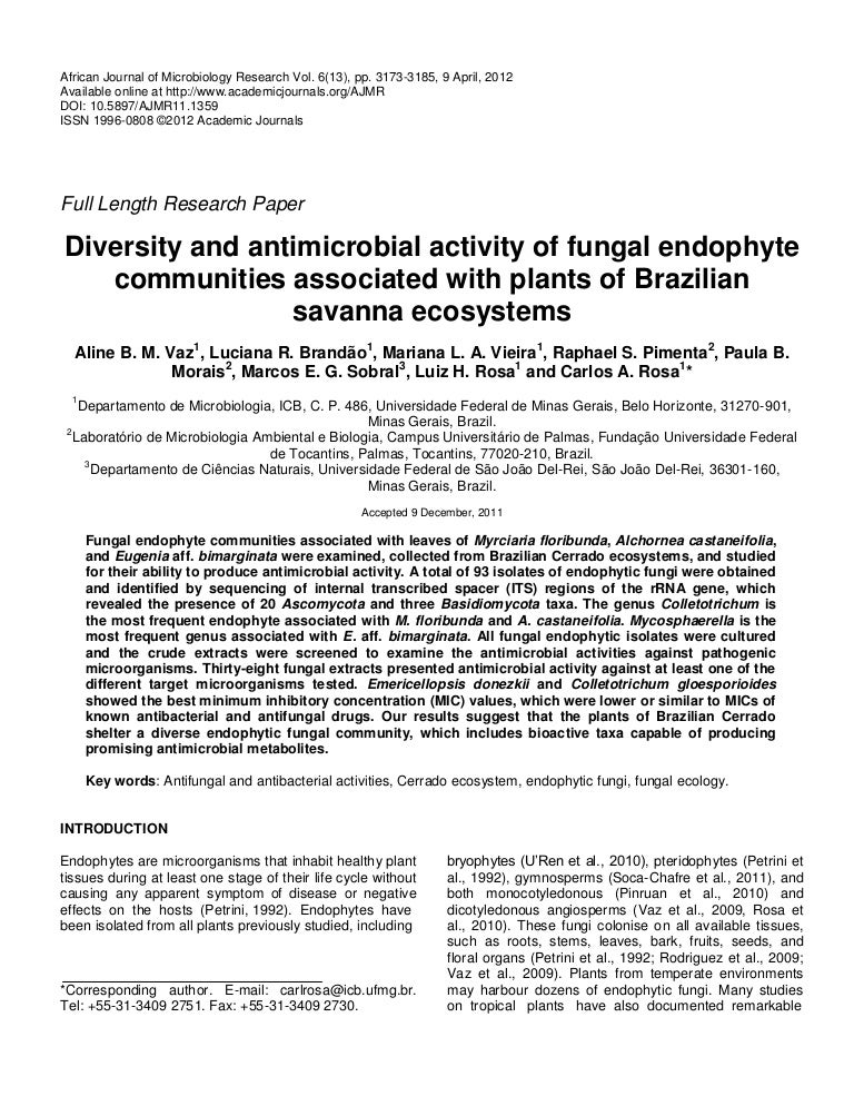 8_Diversity and antimicrobial activity of fungal endophyte