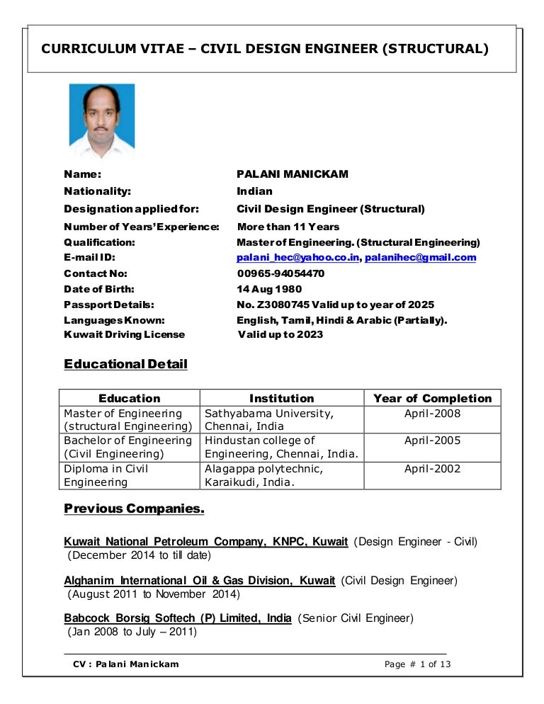 resume document civil structural engineering oil and gas