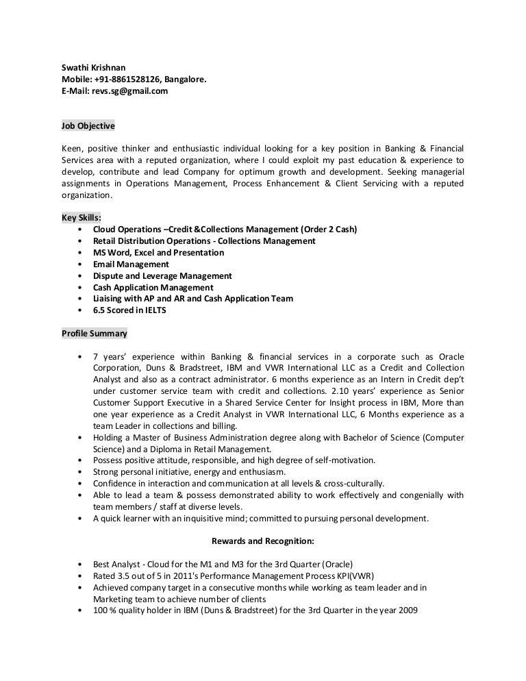 Swathi Krishnan - Resume