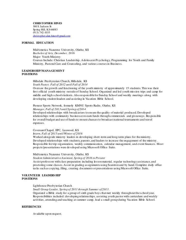 Resume youth leader sample resume for a customer service clerk