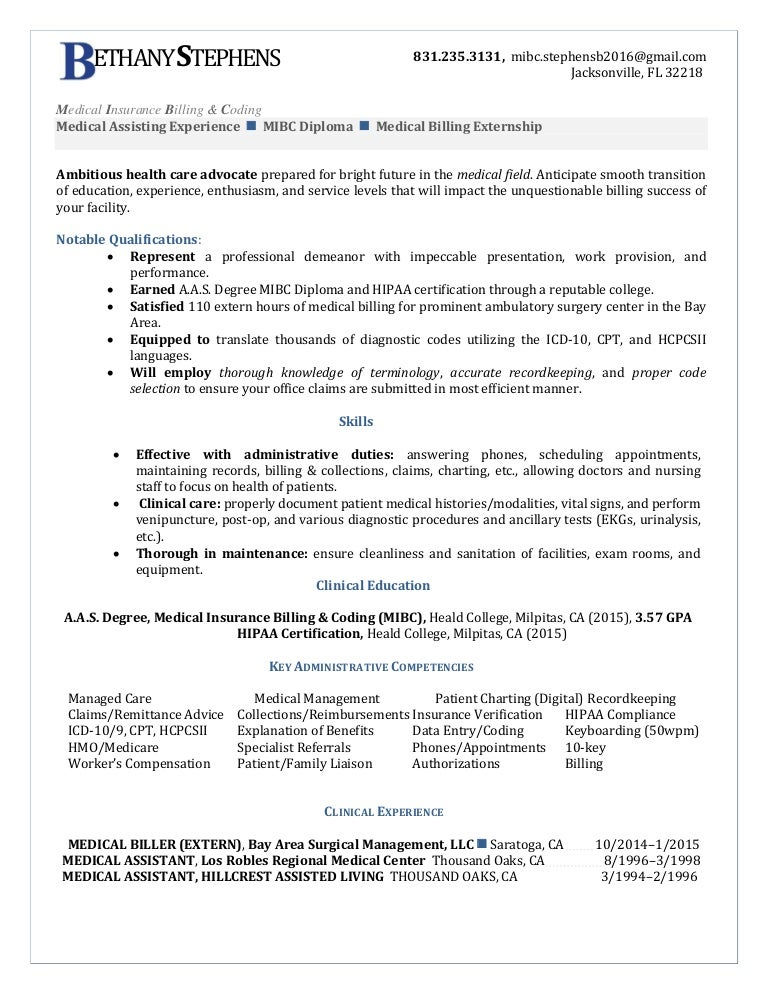 resume examples for medical billing and coding tier brianhenry co
