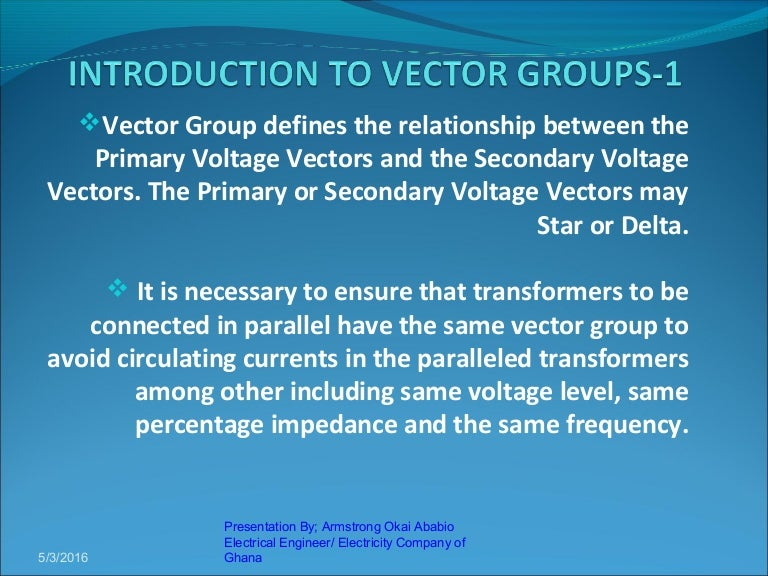 Presentation on vector groups by armstrong ccuart Choice Image