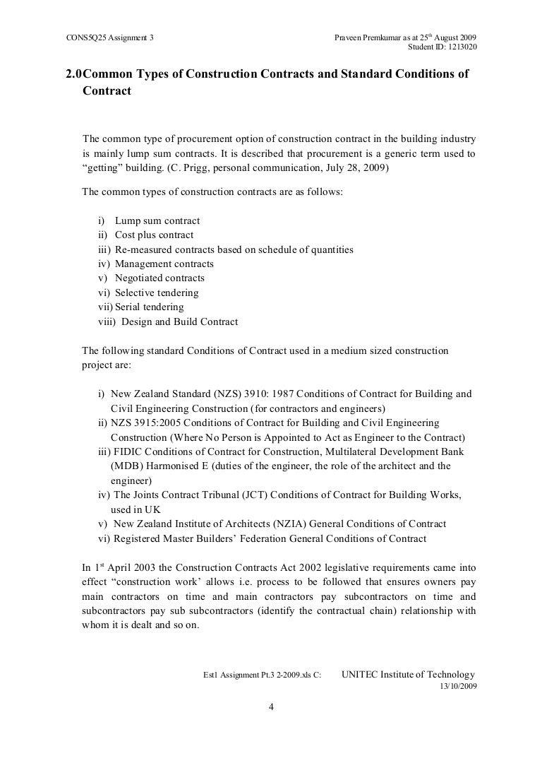 Standard Construction Contract Kleobeachfixco - Standard construction contract template