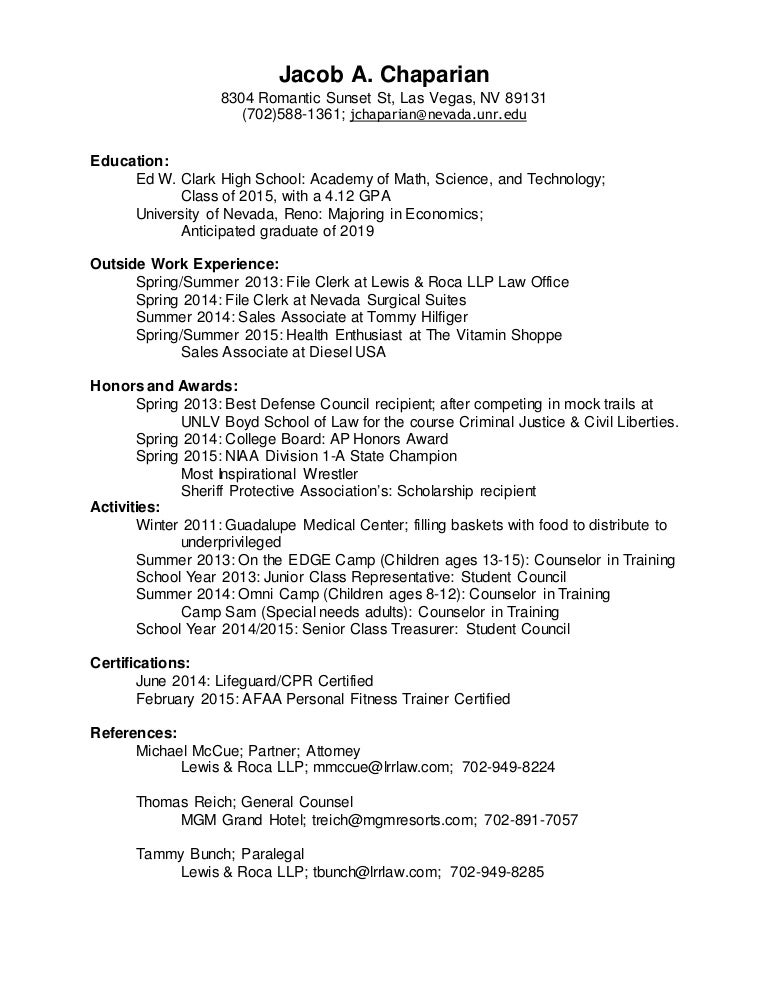 Resume -- Jacob Chaparian