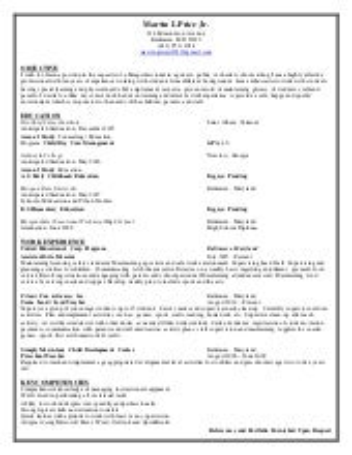 paraprofessional resume gillian howard
