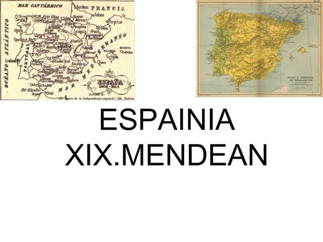5 gaia. Espainia XIX. mendean. 4 dbh
