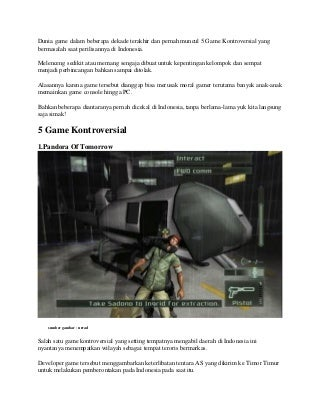 5 game kontroversial yang pernah bermasalah di indonesia