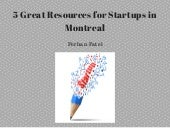5 Great Resources for Startups in Montreal