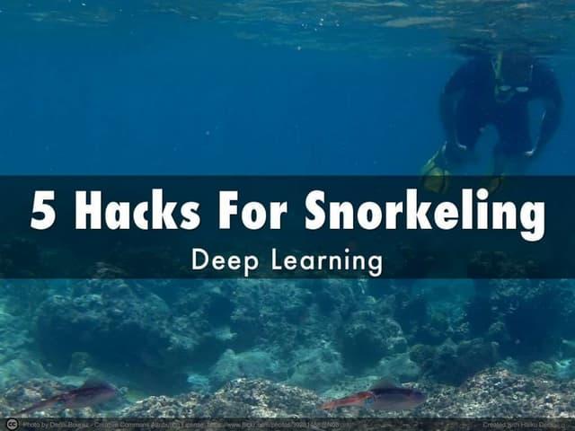 5 hacks for snorkeling