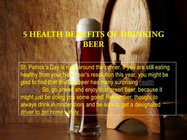 5 health benefits of drinking beer
