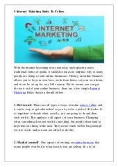 5 internet maketing rules to follow and grow your business